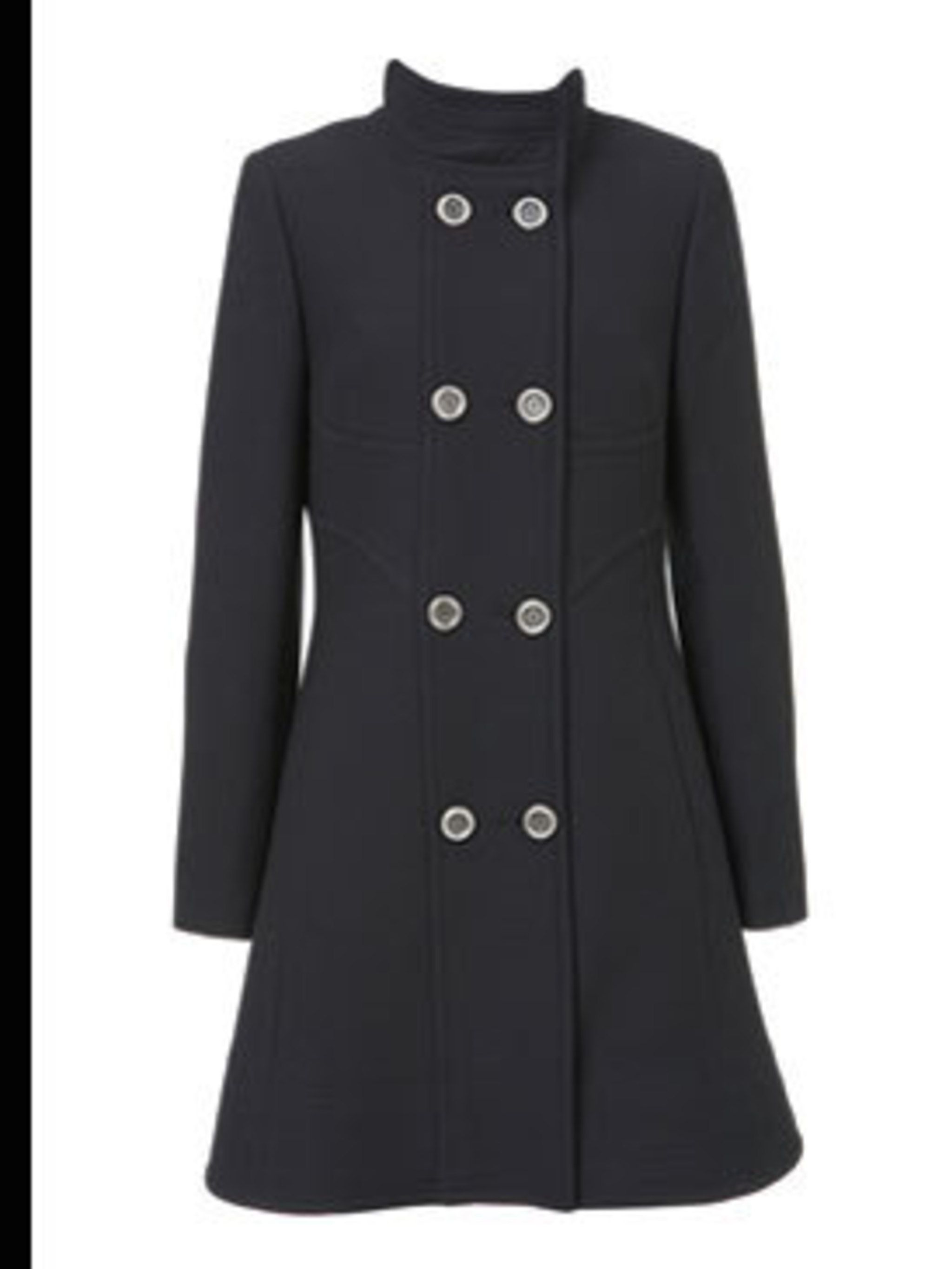 <p>Double breasted coat, £130 from Warehouse, for stockists call 0870 122 8813</p>