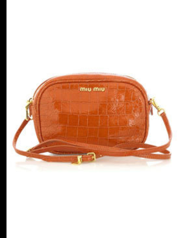 "<p>Leather clutch, £206 by Miu Miu at <a href=""http://www.net-a-porter.com/product/38732"">Net-a-Porter</a></p>"