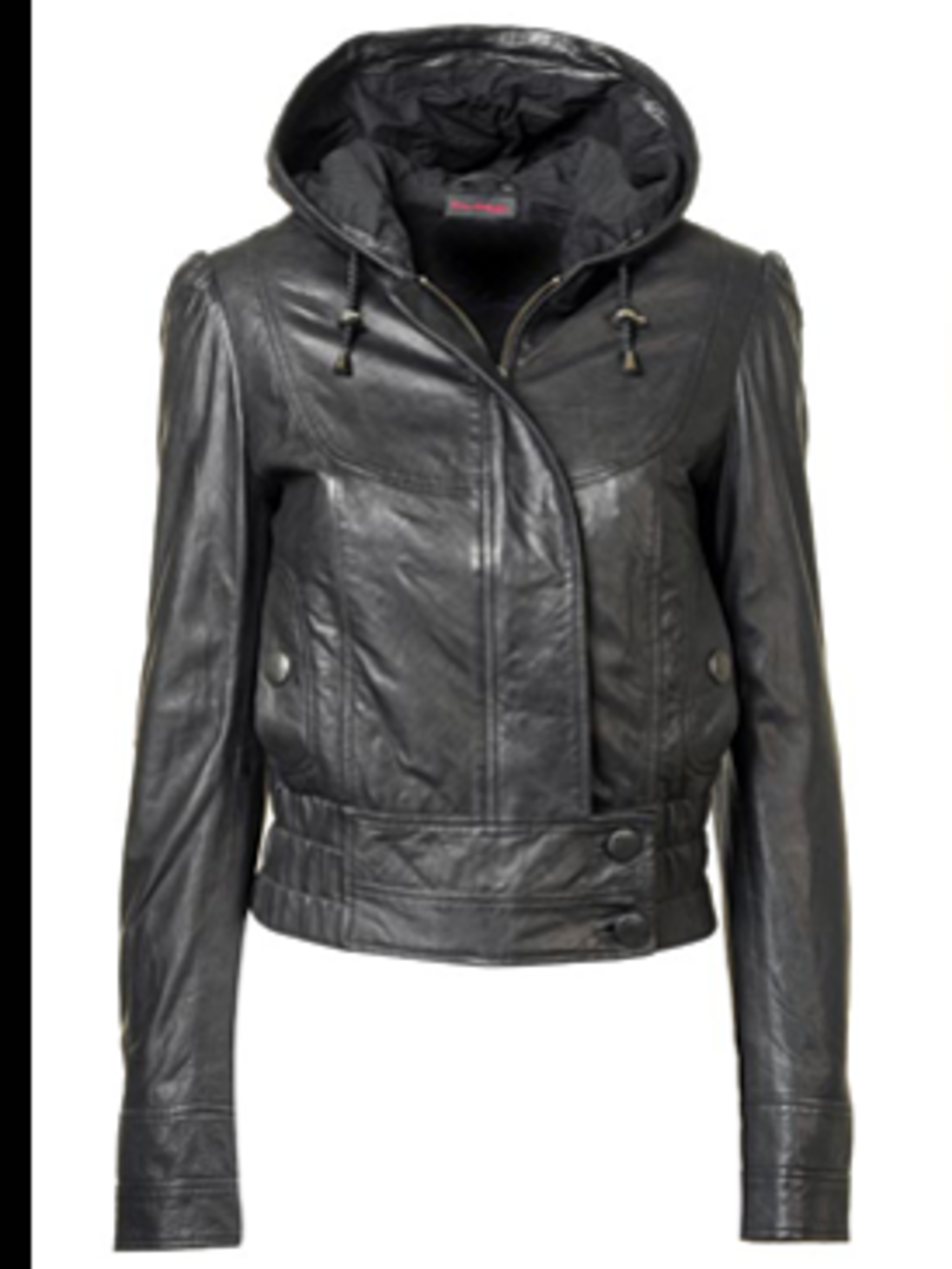 <p>Leather bomber, £90 from Miss Selfridge,  for stockists call 0845 121 4517</p>