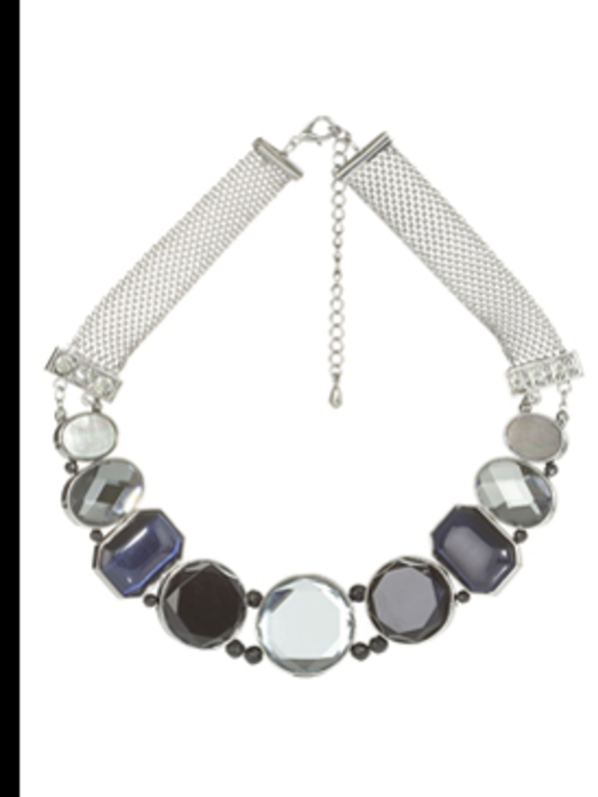 <p>Large multi stone necklace, £30, by Principles, for stockists call (0870 122 8802)</p>