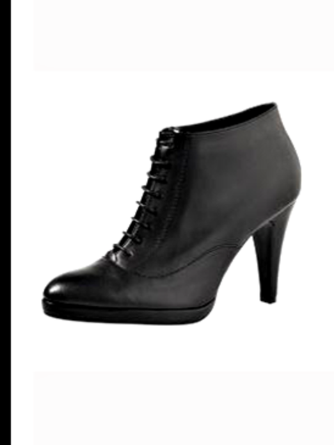 <p>Lace-up ankle boots, £34.99 from H&amp;M, for stockists call 020 7323 2211</p>