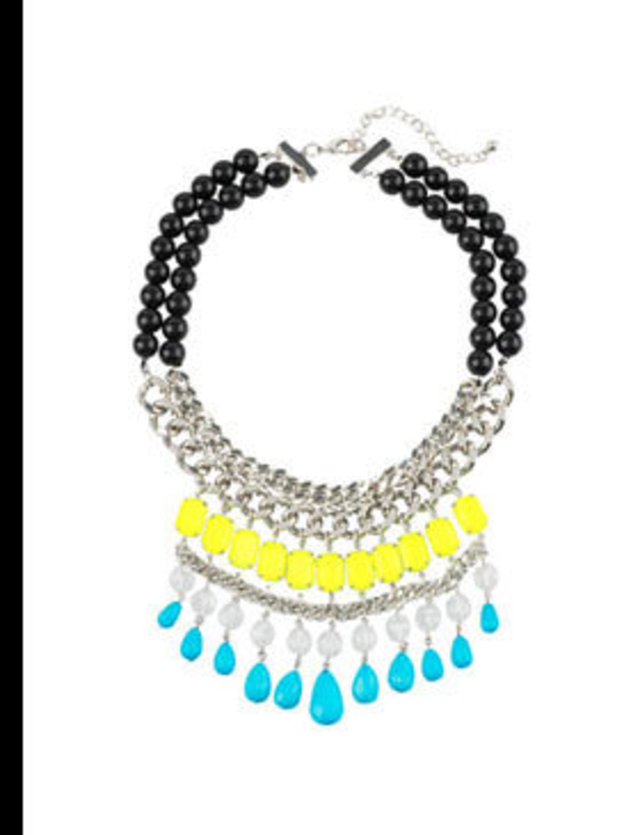 "<p>Necklace, £19.99 by <a href=""http://xml.riverisland.com/flash/content.php"">River Island</a></p>"