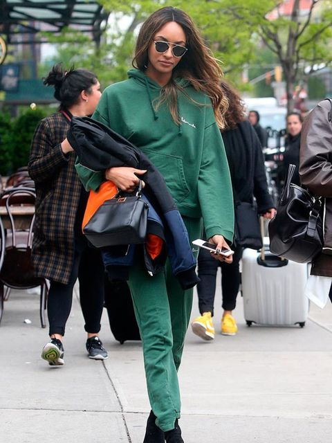 Jourdan Dunn out and about in New York, May 2016.