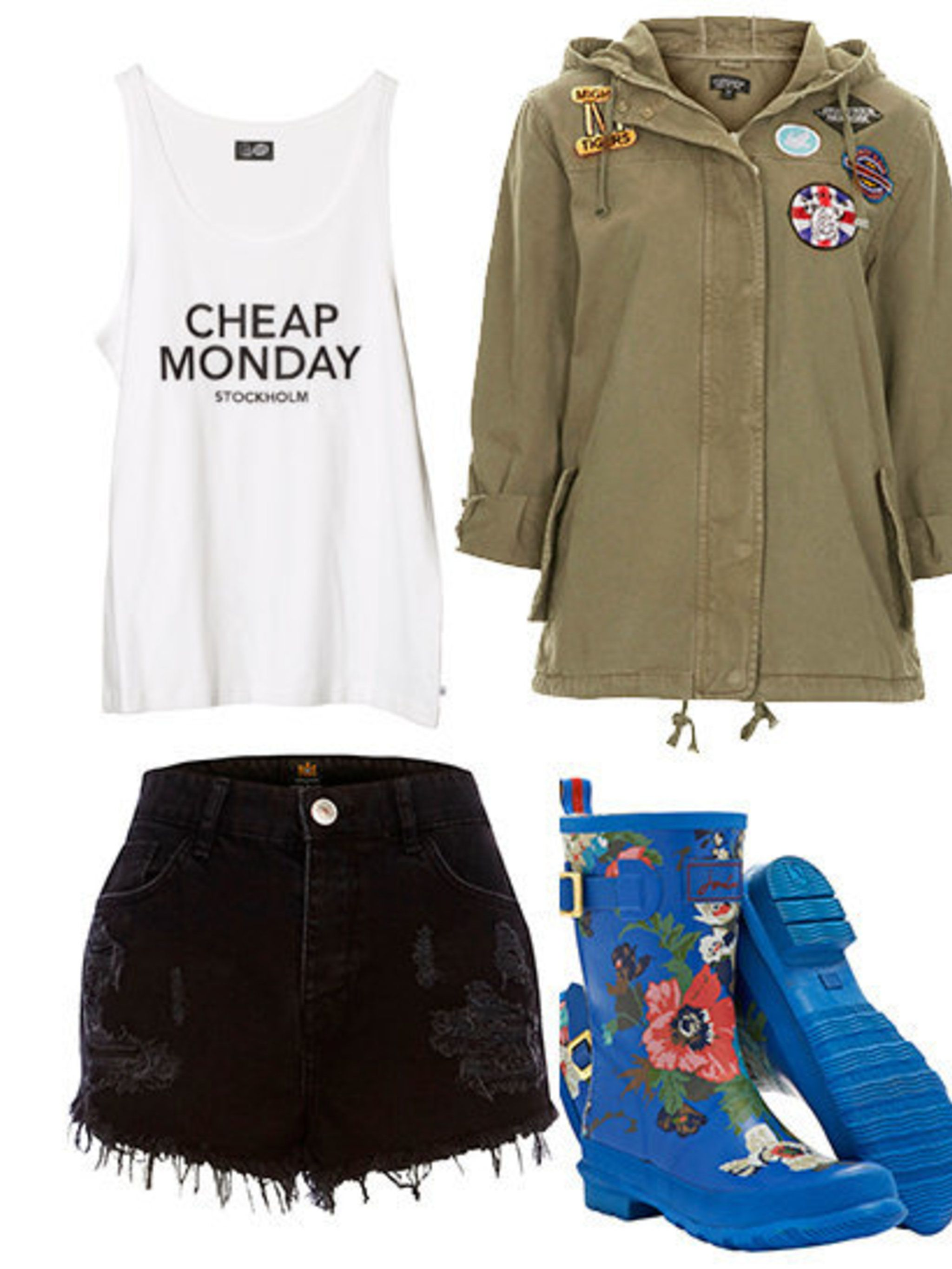 <p>Parka's and Wellies...</p>