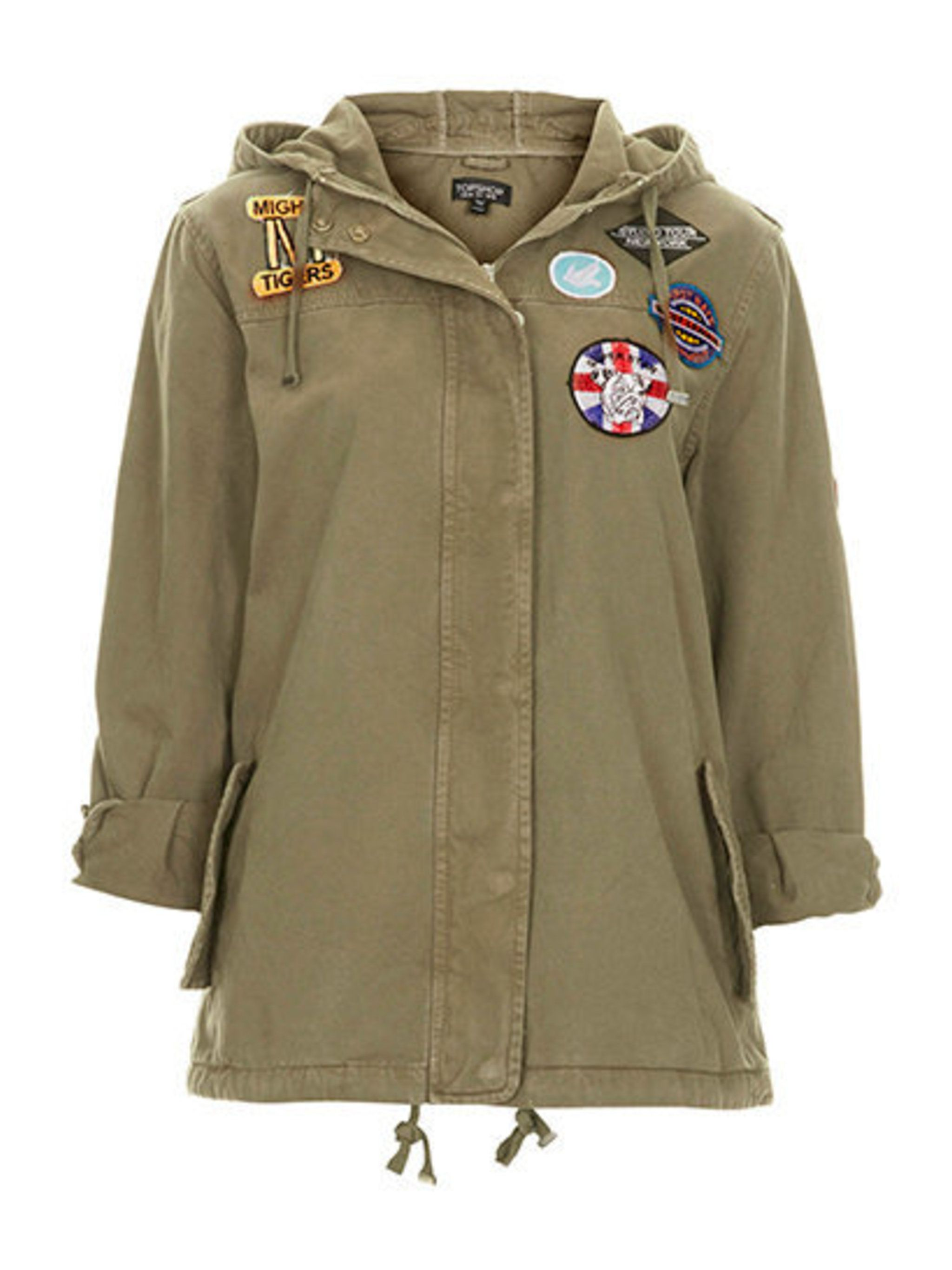 """<p>Lightweight layers are key for festivals, you never know when the English weather might dramatically change. Pack this <a href=""""http://www.topshop.com/en/tsuk/product/clothing-427/festival-1905528/badged-lightweight-short-parka-2779889?bi=1&amp&#x3B;ps=200"""""""