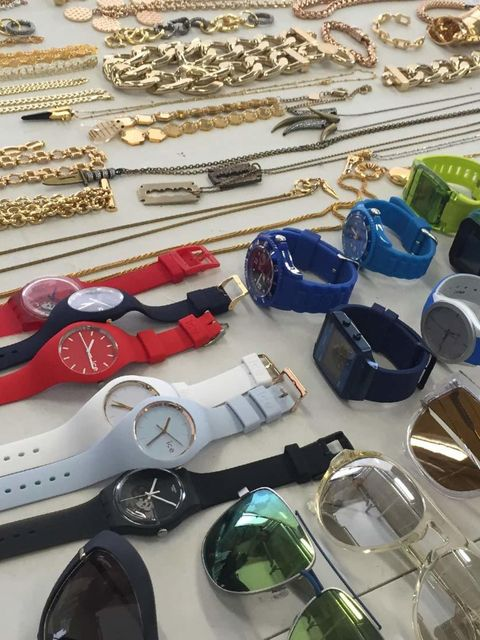<p>The sportswear theme called for chunky, brightly coloured watches.</p>