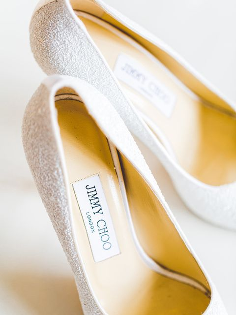 """<p>I picked up discount <a href=""""http://www.jimmychoo.com/"""" target=""""_blank"""">Jimmy Choos</a> from <a href=""""http://www.bicestervillage.com/"""" target=""""_blank"""">Bicester Village</a>. They had a good bridal collection all at 40% discount.</p>"""