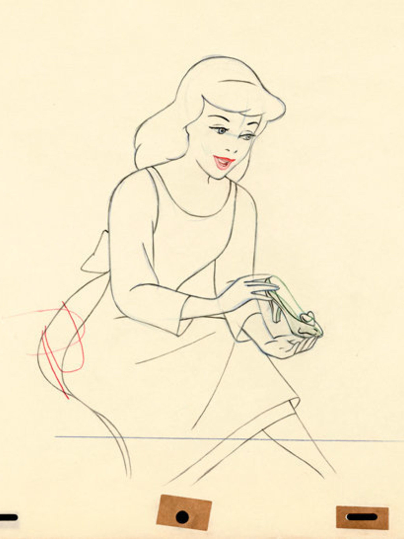 <p>An original sketch from Cinderella</p>