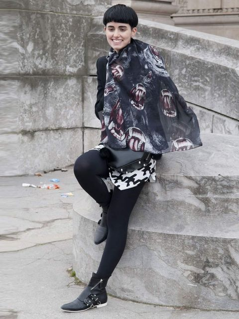 <p>Anne-Catherine Frey, Autumn Winter 2012.</p><p>New kid on the block Anne-Catherine is a fashion student, blogger and stylist for the Kooples. The Parisian works an effortlessly gamine look with her trademark bowl cut and strong eyebrows. Little details