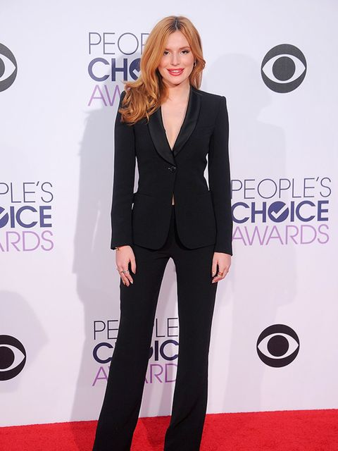 <p>Bella Thorne in Giorgio Armani at the People's Choice Awards in Los Angeles, January 2015.</p>