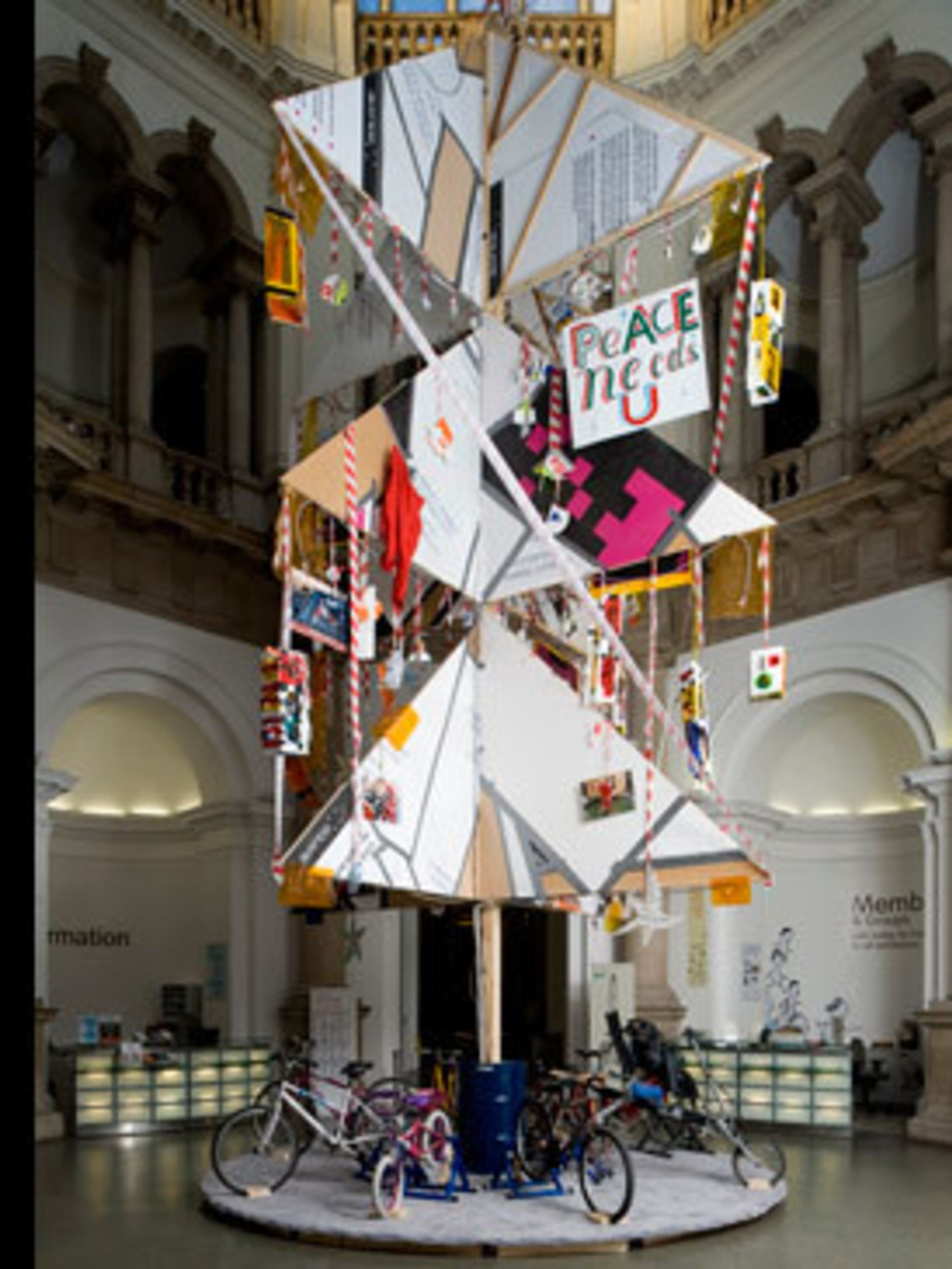 <p>Recycling has never been hipper, and that applies to your Christmas tree, too. We don't mean dragging last year's brown relic in from the garden, but taking inspiration from contemporary artists Bob and Roberta Smith who have used recycled timber, bicy