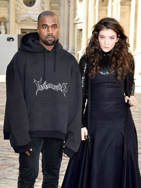 "<p>With <a href=""http://www.elleuk.com/tags/lorde"">Lorde</a> at <a href=""http://www.elleuk.com/fashion/news/christian-dior-autumn-winter-2015-paris-fashion-week-review"">Christian Dior a/w 2015</a>: Carrying a Kanye, officially approved by the youth.</p>"