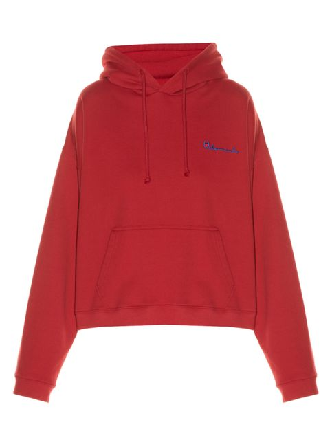"<p>Hooded logo-print sweatshirt, £415, <a href=""http://www.matchesfashion.com/products/Vetements-Hooded-logo-print-sweatshirt-1046756"" target=""_blank"">Vetements</a></p>"