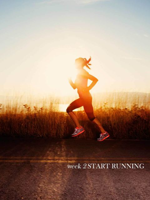 Week 2: Start Running  Monday – Learn the BasicsYou're about to start running. During this week, every time you set off, perform these six checks: 1. Start with your head up and make sure you ar