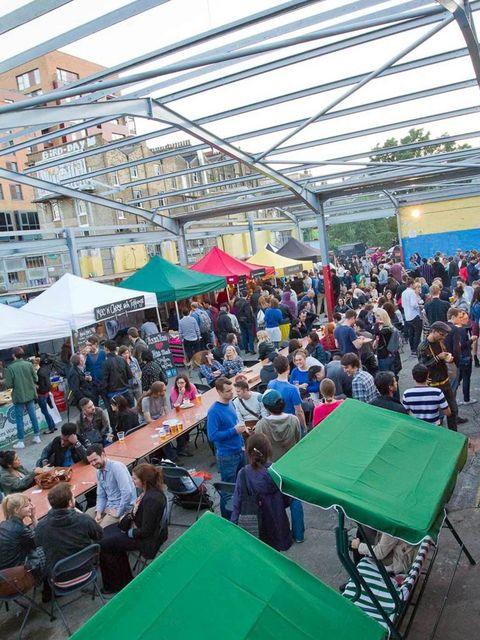 <p>Street Feast keeps your tastebuds on its toes: it's a weekly night market populated by the best of London's street food traders alongside vintage clothing, craft and book stalls, and art you can buy and make – all to the sounds of a resident DJ. They'v