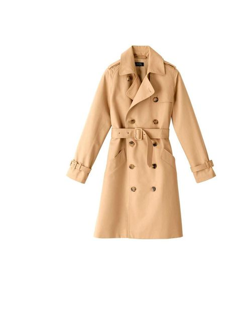 """<p>The trench is a true modern day must-have, and this version is beautifully crafted and water-proof to get you through the seasons. £342, <a href=""""http://www.apc.fr/wwuk/women/coats/new-trench-coat_pFVDCFFCB.html"""">A.P.C</a></p>"""