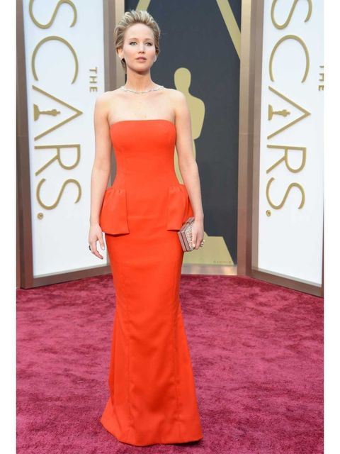 "<p><strong>Jennifer Lawrence:</strong> I love the simplicity in the column shape of this <a href=""http://www.elleuk.com/catwalk/designer-a-z/dior"">Dior</a> dress. The tomato colour makes it look really fresh and the peplums make it more interesting. It's"