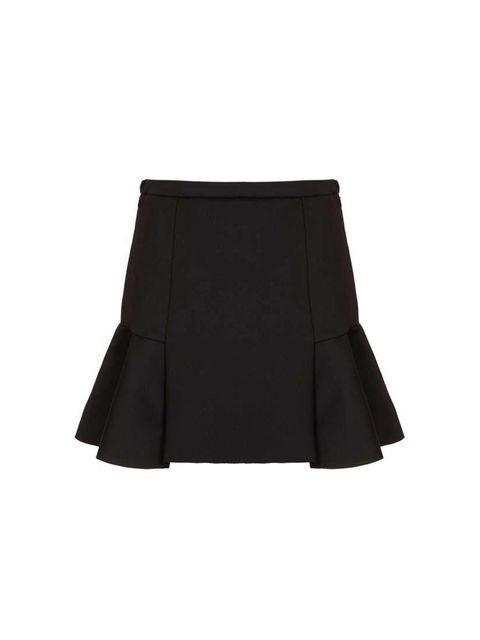"<p>Start the outfit with a short black skirt...</p><p>This one is from <a href=""http://www.topshop.com/en/tsuk/product/clothing-427/skirts-449/fit-and-flare-scuba-skirt-2594045?bi=41&ps=20"">Topshop</a>, £32</p>"