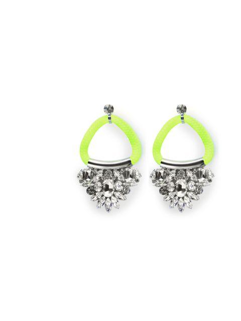 "<p>Noir neon and crystal hoop earrings, £228, at <a href=""http://www.saltresortwear.com/store/view/noir-neon-yellow-and-crystal-hoop-earring/?Pid=368&CategoryId=85"">Salt </a></p>"