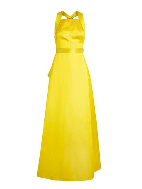 """<p>Bright colour was a big trend this season.</p><p>This Jason Wu <em>Duchesse Satin Halter-neck gown</em> is £5,430 available at <a href=""""http://www.brownsfashion.com/product/015N09750004/007/duchesse-satin-halterneck-gown"""">Browns</a>. </p>"""