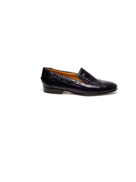 "<p>Lanvin embossed leather moccasin slippers, £465, at <a href=""http://www.farfetch.com/shopping/women/lanvin-embossed-leather-moccasin-slippers-item-10241028.aspx"">Farfetch</a></p>"