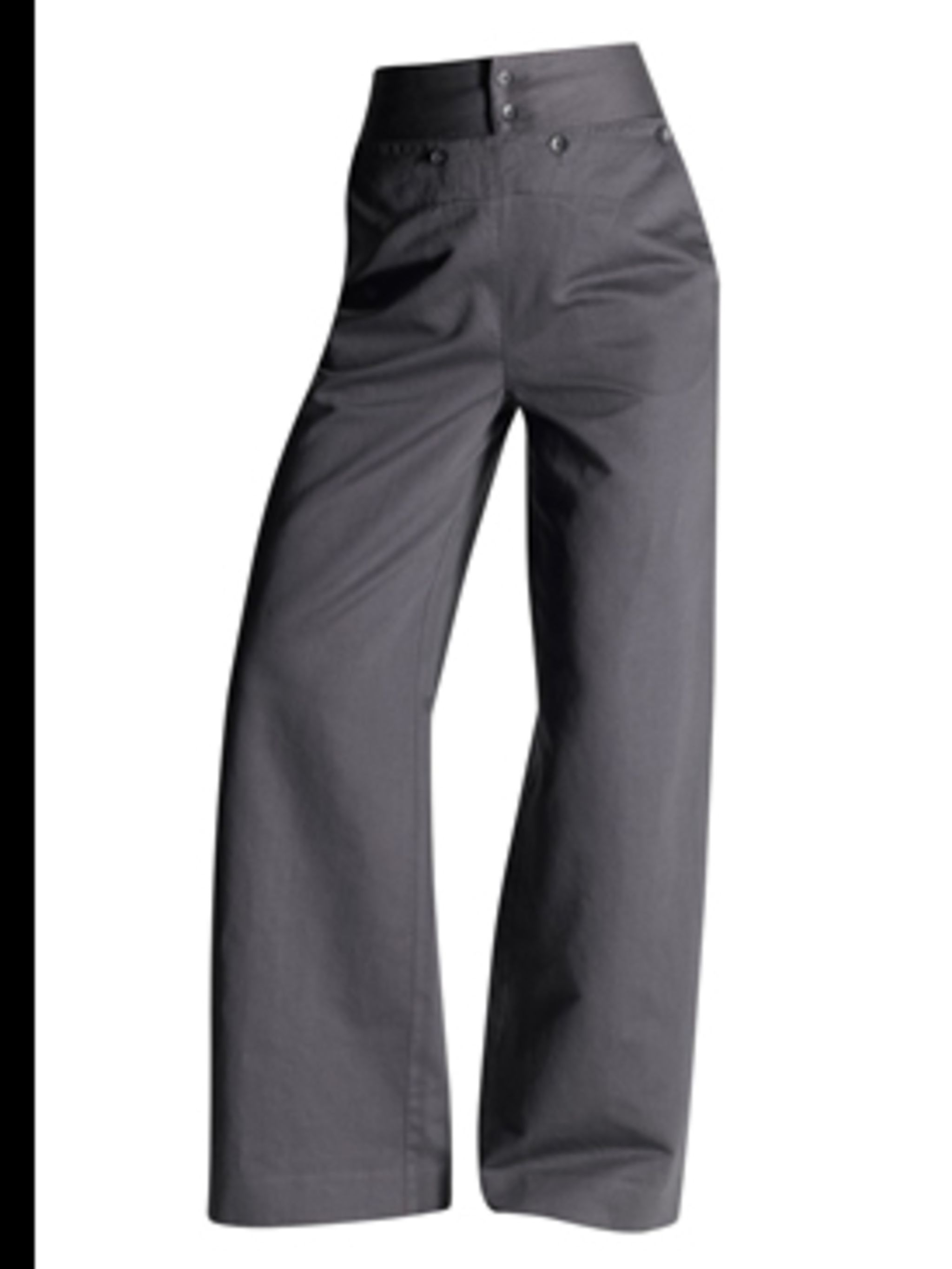 <p>Trousers, £39.50 by Gap. For stockists call 0800 427 789.</p>