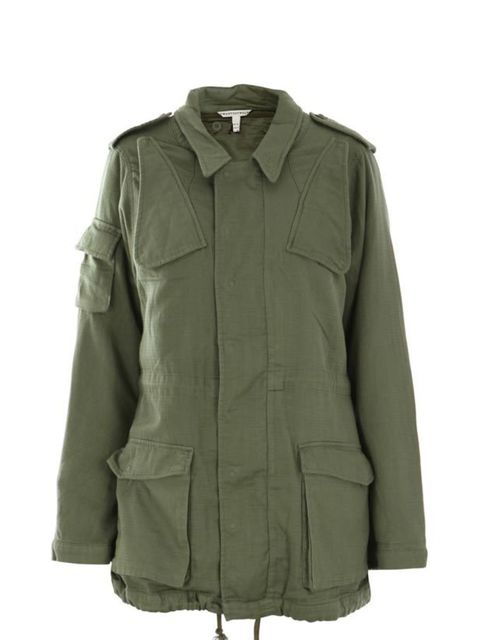 <p>Twenty8Twelve hoodless parka, £498, at Matches</p>