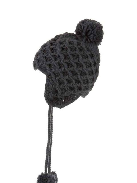 "<p><a href="""">Warehouse</a> knitted trapper hat, £16</p>"