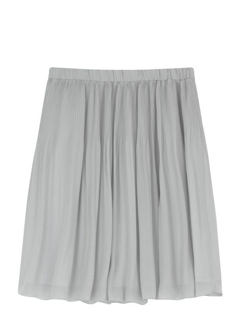 """<p>This is the season of the skirt and short, pleated styles are a mini trend set to continue next summer. Get this versatile grey one now and wear for a year to come… <a href=""""http://shop.uniqlo.com/uk/list/basic/women/bottoms/skirts"""">Uniqlo</a> chiffon"""