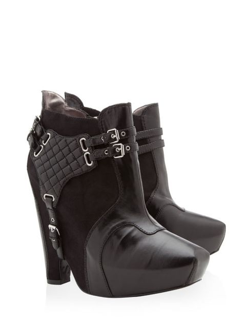 """<p> </p><p>Give the new season trends a rock chick kick with these statement wedge boots… Sam Edelman buckle wedge boots, £176, at <a href=""""http://www.harveynichols.com/womens/categories/designer-shoes/boots/s324476-zoe-buckle-platform-boots.html?colour=B"""