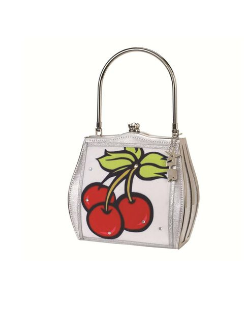"<p><a href=""http://helenrochfort.myshopify.com/collections/frontpage/products/helen-rochfort-scented-cherry-handbag"">Helen Rochfort</a> scented cherry bag, £65</p>"
