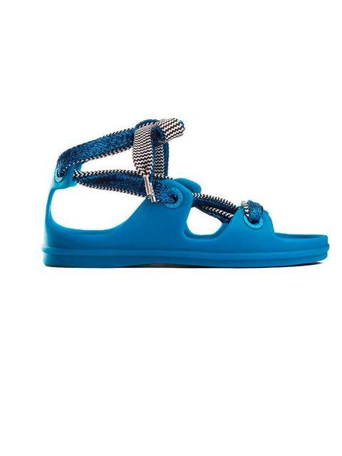 """<p>Gladiator style ..</p><p>Tie up sandals £120 by <a href=""""http://www.acnestudios.com/shop/women/shoes/milo-klein-blue.html"""">Acne Studios</a></p>"""
