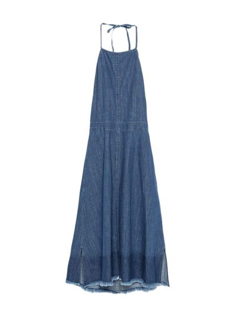 "<p>Editorial Assistant Gillian Brett's love affair with denim knows no bounds.</p>  <p><a href=""http://www.zara.com/uk/en/collection-aw15/woman/collection/halter-top-dress-with-frayed-hem-c733933p2775627.html"" target=""_blank"">Zara</a> dress, £29.99</p>"