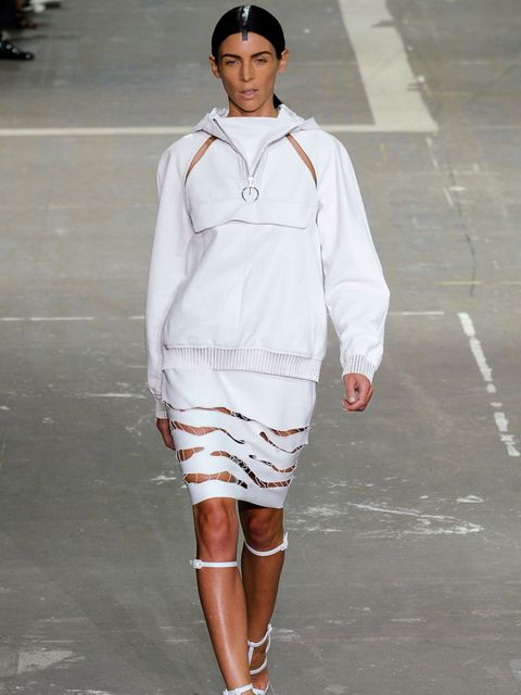 <p>Liberty Ross walking for Alexander Wang's Spring Summer 13 show in New York.</p>