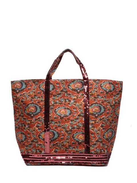 """<p>A roomy beach bag that ticks the tribal trend while adding a subtle sequin sparkle? Vanessa Bruno can do no wrong… Vanessa Bruno Athe printed bag, £120, at <a href=""""http://www.urbanoutfitters.co.uk/vanessa-bruno-athe-ikat-print-large-bag/invt/577141490"""