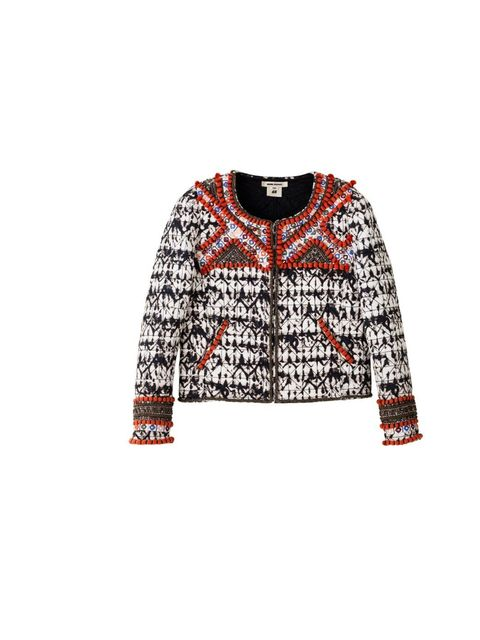 <p>This embellished jacket is classic Marant. Re-create her signature look with cropped jeans and a love-worn ankle boot.</p><p>Beaded jacket, £199.99</p>