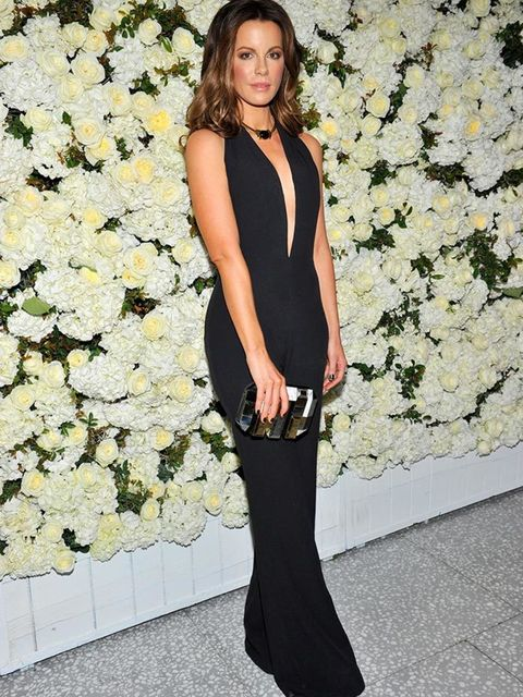 Kate Beckinsale attends a dinner to celebrate the arrival of Victoria Beckham's Collection to Barneys in New York, April 2015.