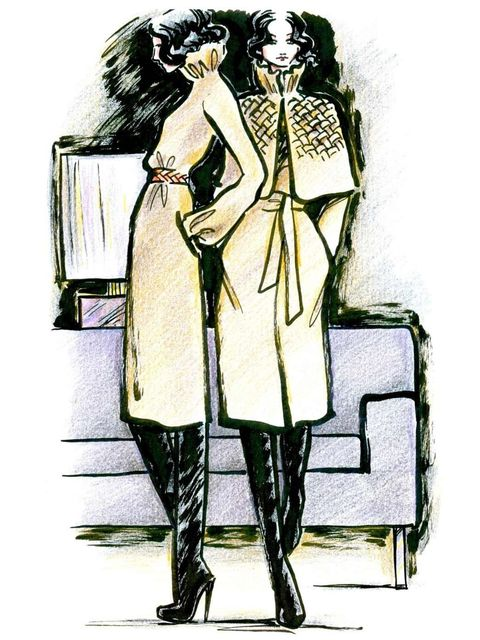 <p> A sketch from Nicholas Oakwell's AW12 couture collection</p>