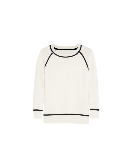 """<p>A stylish take on a tennis jumper, this elegant knit is a spring staple.</p><p>Iris & Ink sweater, £130 at <a href=""""http://www.theoutnet.com/product/414944?cm_sp=MBTD-_-TO%5B414944%5D-_-FROM%5B415356%5D"""">The Outnet</a></p>"""