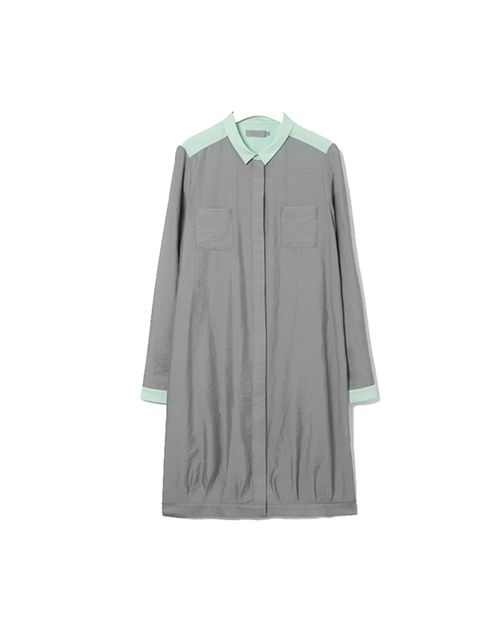 """<p>Pastel and silky, this is what spring wardrobes have been waiting for... <a href=""""http://www.cosstores.com/Store/Women/New/Contrast_detail_dress/365246-345659.1"""">Cos</a> contrast detail dress, £59</p>"""