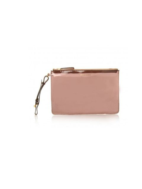 """<p>This season is all about the statement clutch. Earn extra style points with a sporty perspex number…  <a href=""""http://www.kurtgeiger.com/women/accessories/bags/perspex-lrg-zip.html"""">KG Kurt Geiger</a> nude perspex clutch, £25</p>"""