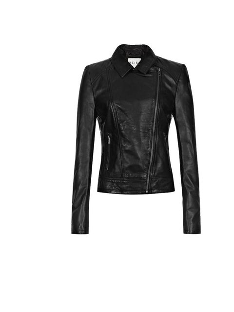 "<p><a href=""http://www.reissonline.com/shop/womens/coats_and_jackets/leather/marli/black/"">Reiss</a> 'Marli' leather jacket, £395</p>"