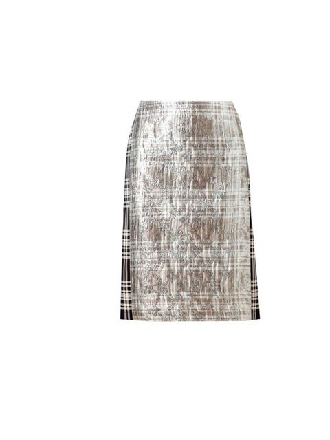 <p>Not so long ago the midi length skirt screamed scary styling nightmare at worst, boring at best. Well, no more. This one from Dries is the perfect example - amazing fabric and a great transitional piece.</p><p>Dries Van Noten £500, Available at <a href
