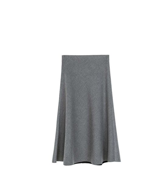 "<p>Minimalist lines? Below the knee? Uniform grey? Check, check, and check - that's three of this season's trends in one high street skirt...</p><p><a href=""http://www.zara.com/uk/en/woman/skirts/high-waist-skirt-c269188p1554521.html"">Zara</a> Skirt, £39."