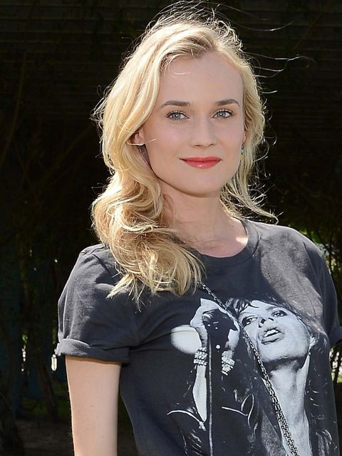 """<p><a href=""""http://www.elleuk.com/star-style/celebrity-style-files/diane-kruger""""> Diane Kruger</a> is the epitome of festival chic pairing warm pink lips with no hassle hair and a bare face. </p>"""