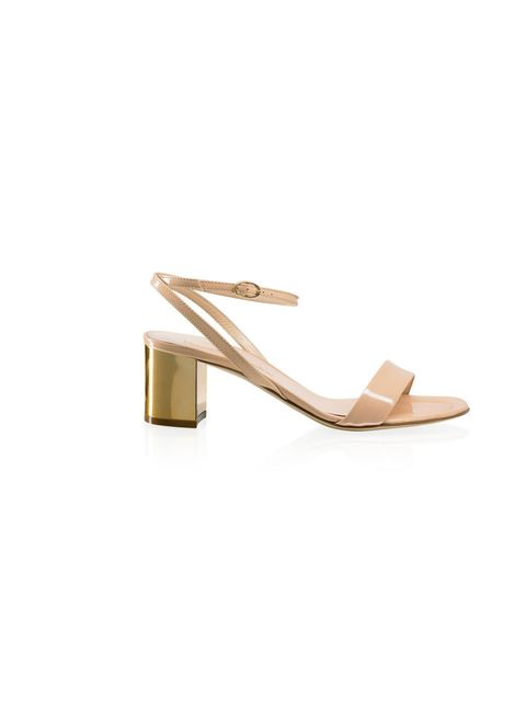 "<p>With the perfect mid-height chunky heel, look-at-me luxe gold finish and go with everything nude leather, make these Russell & Bromley beauts are your first sandals purchase of the season…  <a href=""http://www.russellandbromley.co.uk/heels/cannes/i"