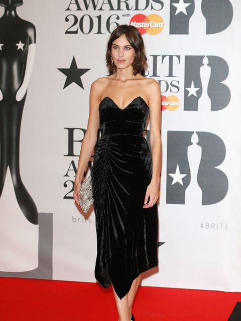 Alexa Chung at the BRIT Awards in London, February 2016.
