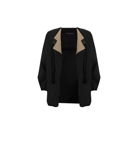 "<p><a href=""http://www.frenchconnection.com/product/Woman+Collections+Coats+And+Jackets/75AQ7/Imperial+Lux+Jacket.htm"">French Connection</a> 'Imperial Lux' jacket, £140</p>"