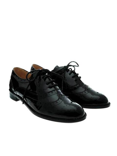 """<p>F Troupe patent leather brogue, £105, at <a href=""""http://www.brownsfashion.com/product/designers/index/women/f-troupe/034852530002.htm"""">Browns</a> </p>"""