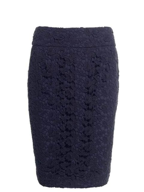 "<p><a href=""http://www.reissonline.com/shop/womens/casual_skirts/jude/indigo/"">Reiss</a> crochet lace skirt, £120</p>"